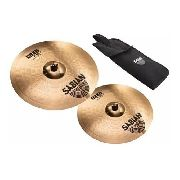 Kit Prato Sabian B8 Pró 5006beq Thin Crash 16 18 Bag Baqueta