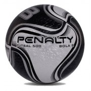 2 Bola Futebol De Salão Penalty Futsal 8 X Preta / Amarela