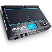 Bateria Eletrônica Sample Pad 4 Alesis Led 25 Sons + Presets