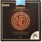 Kit Daddario Ns Artist Capo + Corda Nickel Bronze 12 Violao