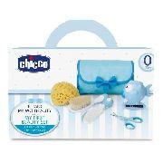 Conjunto De Higiene Cuidados Do Bebe Azul Chicco 059341