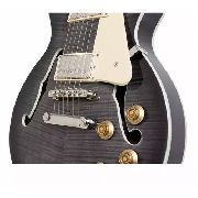 Guitarra Regulada EpiPhone Les Paul Es Pro Trans Black
