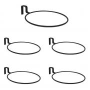 5 Suporte Anel Raiz 15,5 cm Treliça Vaso Auto Irrigável Preto Vasos N03