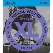 Encordoamento Daddario Guitarra Exl115-b+pl011 D'addario