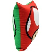 Almofada Fibra Veludo 25x25cm Mario Cogumelos - Zona Criativa