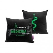 Almofada Fibra Veludo 25x25cm Profissao Medicina - Zona Criativa