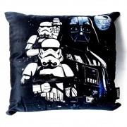 Almofada Fibra Veludo 40x40cm Darth Vader Death Star Wars - Zona Criativa