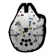 Almofada Fibra Veludo 40x40cm Millennium Falcon Star Wars - Zona Criativa