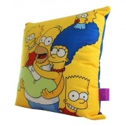 Almofada Fibra Veludo 40x40cm Os Simpsons Familia - Zona Criativa