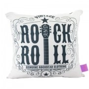 Almofada Fibra Veludo Rock And Roll Zona Criativa