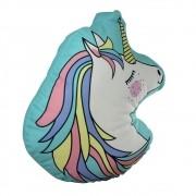 Almofada Fibra Veludo Unicornio Fofinho Zona Criativa