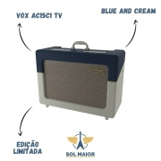Amplificador Guitarra Vox Ac15c1 Tv Bc Ltd Ed Blue Cream Valvulado