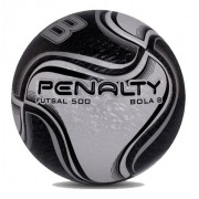 Bola Futebol De Salão Penalty Futsal 8 X Preta / Amarela