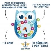 Brinquedo Aprenda As Horas Relógio Da Corujinha Babebi 6007