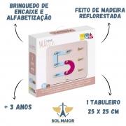Brinquedo de Encaixe Formas Mágicas - Alfabetização - Babebi