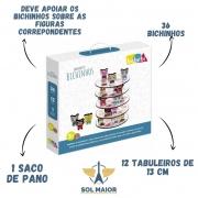 Brinquedo De Madeira Empilhe Os Bichinhos Babebi - 6043