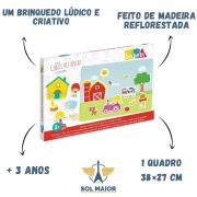 Brinquedo Educativo Quadro Conte Histórias Fazendinha Babebi
