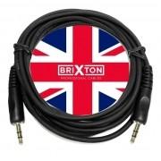 Cabo Auxiliar Brixton P2 P2 Profissional 1,8m iPod iPad Mp3 Mp4 Gps