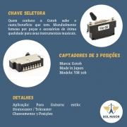 Chave Seletora Gotoh Ym-30b/ps07 3 Posições Guitarra