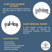 Clamp Para Extensor De Percussão Cromado 7488 - Dolphin