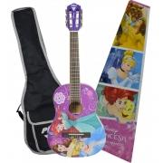 Violão Infantil 1/2 Phx Vip-4 Disney Princesa Afinador Capa