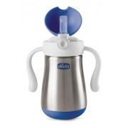 Copo Inox Power Cup Chicco - Azul 18m+
