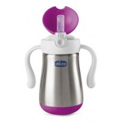 Copo Inox Power Cup Chicco- Rosa 18m+