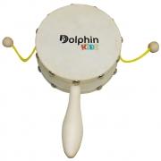 Domroo Infantil 10″ Madeira com Pele Animal Dolphin 8463