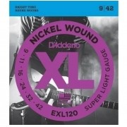 Encordoamento Daddario Guitarra Exl120 B +pl009 D'addario