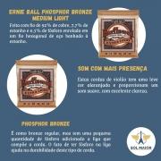 Encordoamento Ernie Ball 010-050 Violão Phosphor Bronze 2150