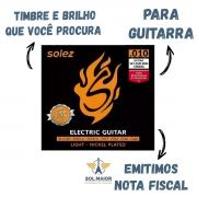 Encordoamento Para Guitarra Slg10 Solez 010 C/2 Cordas Extra