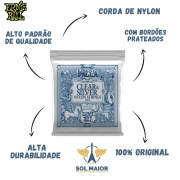 Encordoamento Violão Nylon Ernie Ball 2403 Ernesto Palla