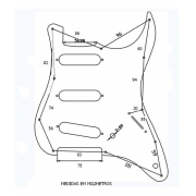 Escudo Guitarra Strato Sss 11 Furos Mint Green X200 - Spirit