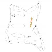 Escudo Guitarra Stratocaster Spirit 3 Singles Fender X200