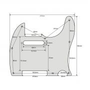 Escudo para Guitarra Telecaster x310 White Perolado - Spirit