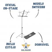 Estante Para Partitura On Stage Preta Sm7122bb