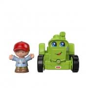 Fisher Price Mini Figura e Veiculo Little People Trator