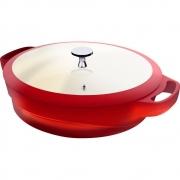 Frigideira tipo Caçarola Com Tampa 24 cm Vermelha - Le Cook