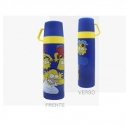 GARRAFA TERMICA TAMPAS XICARA SIMPSONS CARETAS 500ML