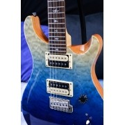 Guitarra PRS CU4Q SE Custom 24 Quilted Top Blue Fade