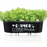 Jardineira Floreira Raiz Autoirrigável 40cm Amor é o Tempero da Vida