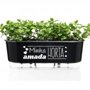 Jardineira Floreira Raiz Autoirrigável 40cm Minha Amada Horta