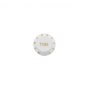 Kit 10 Knob Branco Tone Plástico Stratocaster - DOLPHIN