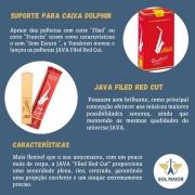 Kit 10 Palhetas Sax Alto Nº 2,5 Java Red Vandoren - 7811