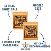 Kit 2 Encordoamento Ernie Ball 09-46 Guitarra Hybrid 2222