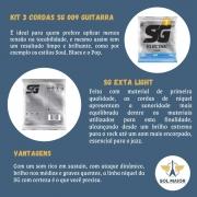 Kit 3 Encordoamento Guitarra Sg 009 042 + Braçadeira Delrin