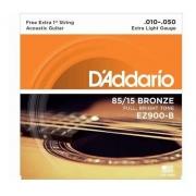Kit 3 Encordoamento Violão Aço Daddario Ez900 010 Original