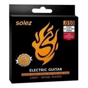 Kit 3 Encordoamentos Guitarra Slg10 Solez 010 + Cordas Extra