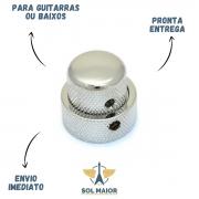 Kit 3 Knob Metal Guitarra push pull Largo Curto Cromado dolphin 13450