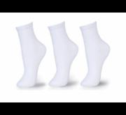 Kit 3 meia Soquete Branca Infantil/Adulta - 28/33 e 34/39